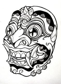 Bali Mask by mostlymade.deviantart.com on @deviantART