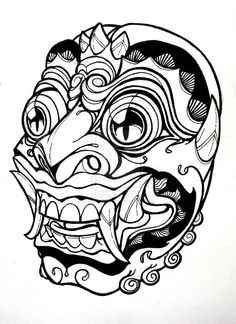 Bali Mask by mostlymade.deviantart.com on @deviantART