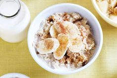 Banana and cinnamon porridge