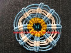 Tutorial escarapela en macrame - YouTube