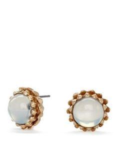 CYNTHIA Cynthia Rowley  Smooth Cabochon Stud Earrings