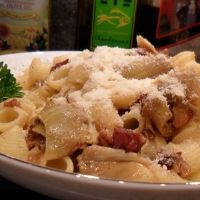 Pipette Pasta With Artichoke Hearts And Bacon Recipe