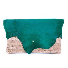 @~LaLa~ Kristine Gottilla: Lambskin Cork Clutch Small Green