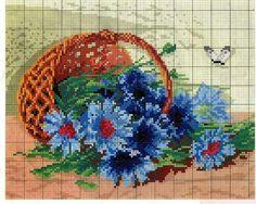 "Photo from album ""ВЫШИВАЛЬЩИЦАМ"" on Yandex. Cross Stitch Books, Cross Stitch Art, Cross Stitch Flowers, Cross Stitch Designs, Cross Stitching, Cross Stitch Embroidery, Cross Stitch Patterns, Embroidery Patterns Free, Loom Patterns"