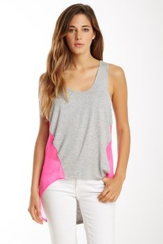 Sheer Silk Panel Hi-Lo Tank by Central Park West on @HauteLook