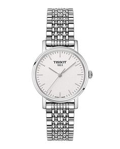 Tissot Women's Swiss T-Classic Everytime Stainless Steel Bracelet Watch - Silver Bracelets Fins, Link Bracelets, Modern Watches, Luxury Watches, Jewelry Clasps, Jewelry Watches, Women's Watches, Fashion Watches, Gold Watches
