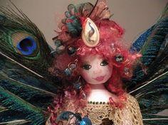 Peacock Fairy Doll OOAK by fairymermaid on Etsy, $225.00