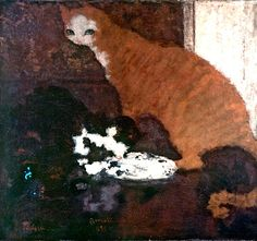 Pierre Bonnard (French, 1867-1947). The Cat. 1893.