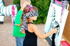 Pin the tail on the zebra