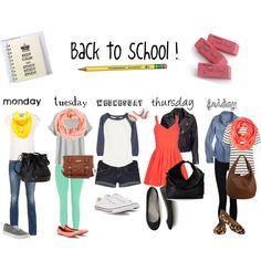 """Back to school ."" by makayla-gentry on Polyvore"