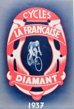 1937 MOTO CYCLE LA FRANCAISE DIAMANT GAMME VELO MOTEUR MOTO COURBEVOIE in Véhicules: pièces, accessoires, Moto: revues, manuels, Catalogues | eBay