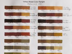 Vallejo Model Color Paint charts and triad combinations Vallejo Paint, Paint Charts, Paint Colors, Google Drive, Miniatures, Painting, Design, Colour Palettes, Scale Models