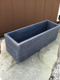 Graphite colored planter/box from reclaimed wood by PatternedHome, $23.00