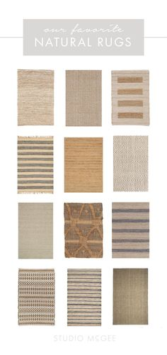 Go-to natural rugs from Studio McGee