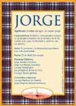 Jorge - Nombres, El significado de los nombres, Tu nombre, Tarjetas postales TuParada.com