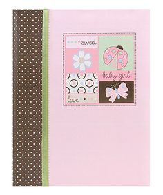 Take a look at this Pink Butterfly & Ladybug Lullaby Record Book by pepper pot on #zulily today!