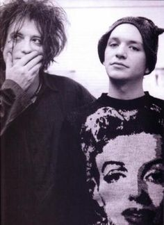Robert Smith (The Cure) and Brian Molko (Placebo). Two kings of atmospheric music.