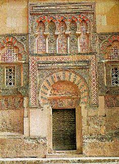 """Door with """"Moorish"""" Influences, Cordoba, Spain Islamic Architecture, Historical Architecture, Art And Architecture, Monuments, Beautiful Buildings, Beautiful Places, Cordoba Andalucia, Gates Of Hell, Spain And Portugal"""