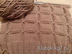 Узор. Мастер Татьяна Л. | Клубок Knitting Stitches, Baby Knitting, Knitted Blankets, Rubrics, Knitting Projects, Shawl, Knit Crochet, Cross Stitch, Pattern