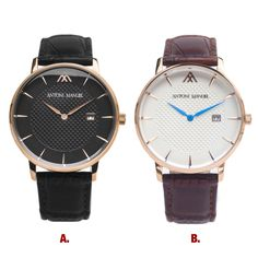 Which @antonimanuel #watch do you like most?  A or B?  www.AntoniManuel.com | #AntoniManuel  #AMCityDweller  Follow us: Facebook: AntoniManuelOfficial Twitter: AntoniManuel_ Tumblr: AntoniManuel  #CityDweller #MensWear #ManBag #Dapper #MensFolder #MensStyle #Folder #Style #Trendy #Trending #Hot #TheLook #SmartLook #Leather #LeatherDocumentHolder #LeatherBag #Accessories #OOTD #PicOfTheDay #IGDaily #Fashion #CityMen #CityStyle #SmartLook #MensFashion #MenInSuits