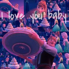 """""""I LOVE YOU BABY"""" Anna and Kristoff are adorable I found this edit online decided to post"""