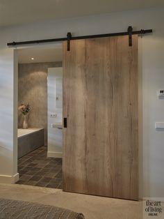moderne boerderij, lauwers ontwerp, the art of living Bathroom Interior Design, Kitchen Interior, Modern House Design, Modern Houses, Door Design, Bathroom Inspiration, My Dream Home, Home Fashion, New Homes