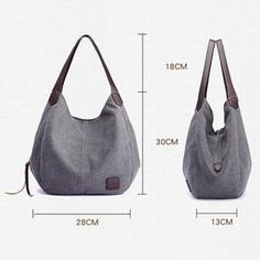 Buy Women Canvas Three Layer Tote Bag Casual Vintage Handbag online with cheap prices and discover fashion Women's Bags,Crossbody Bags at Shechoic.com.