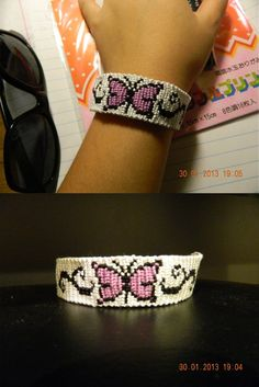 Butterfly friendship bracelet ~ I wanna make this one! (: