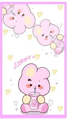 Sharing the most beautiful fanart of BTS Bts Drawings, Kawaii Drawings, Kawaii Wallpaper, Bts Wallpaper, Fanart Bts, Line Friends, Bts Chibi, Bts Fans, About Bts