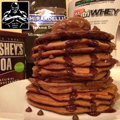 Belgian Chocolate Protein Pancakes