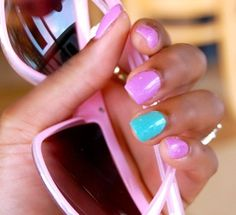 Great colors together for summer nails