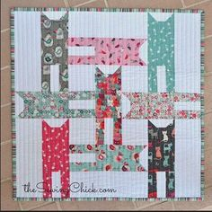 cat weave mini quilt in makower cats - complete instructions on the site
