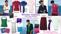 Winter palette - these are my colours. Thanks Margaret :-)winter colour palette