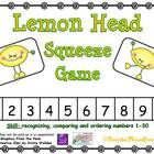 This fun, Lemon Head themed activity will help your students practice recognizing, comparing and ordering numbers 1-30! This is a fun whole group a...