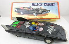 1960s Batmobile Black Knight Battery Op Ligh Up Tin Original Box Free Shipping   eBay