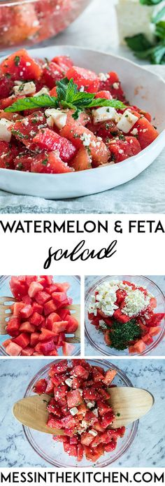 Watermelon and Feta Salad – Mess in the Kitchen