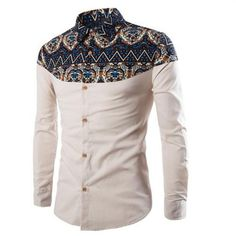 Cheap hommes shoes, Buy Quality shirts hawaii directly from China shirt set Suppliers: 2017 brand clothing Men Shirt Slim fit Plus size Male social masculina Casual Shirt chemise homme marque camisa hombre Formal Shirts, Casual Shirts For Men, Men Casual, White Dress Pants, Mens Dress Pants, Dress Shirts, African Men Fashion, Ethnic Fashion, Latest African Wear For Men