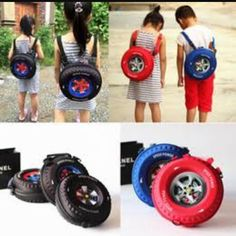 Tyre shape bag pack for kids. RS 1000/. 9172550099