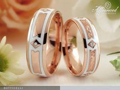 Kerámia betéttel díszített karikagyűrűk