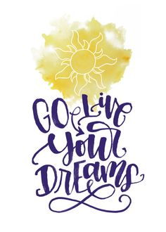 Go Live Your Dreams Tangled Quote Printable by MiniPress on Etsy