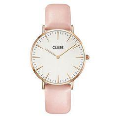 Cluse La Bohème Rose Gold Horloge - Wit/Roze