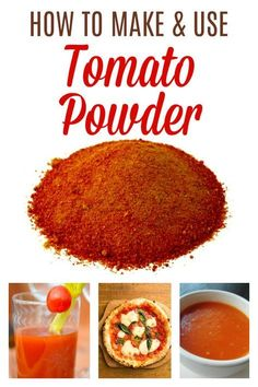 Leftover skins from making a sauce? Turn them into tomato powder for your pantry. There are so many delicious ways to use it! Dehydrated Vegetables, Dried Vegetables, Dehydrated Food, Fruits And Veggies, Homemade Spices, Homemade Seasonings, Recipe Using Tomatoes, Plat Vegan, Freeze Drying Food