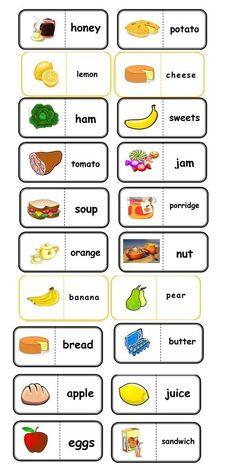 Ingles 7 ano English Activities For Kids, English Games, English Lessons For Kids, Kids English, English Food, English Class, Learn English, Food Vocabulary, English Vocabulary