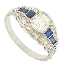 Vintage Engagement Ring. $5200 on GoAntiques. Repinned from one of GoAntiques favorite pinners!