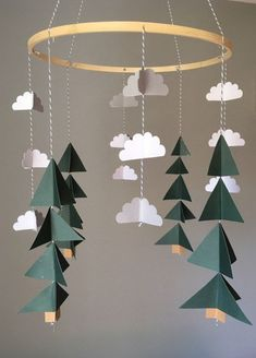 Tree Mobile Camping Mobile Woodland Mobile By UpUpandAwayDesignCo