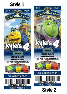 chuggington invites