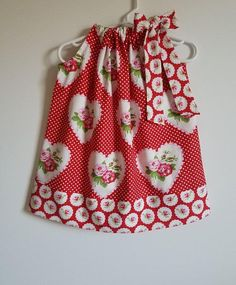 Pillowcase Dress Rose Dress Toddler Girl Dress with Roses Girls Valentine Dresses, Valentines Outfits, Valentines For Kids, Toddler Girl Dresses, Little Girl Dresses, Little Girls, Girls Dresses, Valentine's Day Outfit, Rose Dress