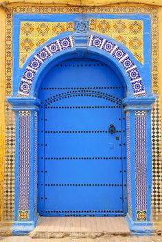 Blue Tiled Moroccan Doorway