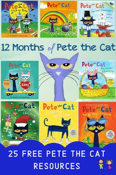 Check out these 25 FREE Pete the Cat Resources! Resources Include: Online Books, Videos and FREE Printables! Preschool Books, Classroom Activities, Book Activities, Autism Classroom, Future Classroom, Classroom Ideas, Teachers Pay Teachers Freebies, Teacher Resources, Art For Kids Hub
