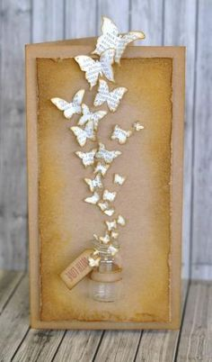 Crafting ideas from Sizzix UK: Flights of fancy: What's Decoration? Decoration may be the art of decorating the inside and … Diy Paper, Paper Crafting, Paper Art, Kraft Paper, Book Crafts, Diy And Crafts, Arts And Crafts, Map Crafts, Butterfly Crafts